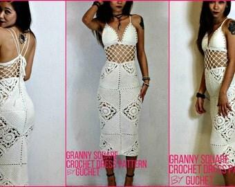 Crochet Dress Pattern - Crochet Maxi Dress Pattern - Crochet Lace Dress - Easy Crochet Dress - Crochet Wedding Dress - GuChet Pattern