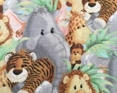 Jungle Babies by Patty Reed- Out Of Print  18 x 22 Inches Fat Quarters