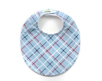 All-Star Plaid Boutique Bib - New Baby Gift, Personalized Baby Gift, New Baby Boy