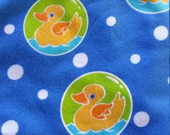 Ducks Flannel yardage blue 4 yd
