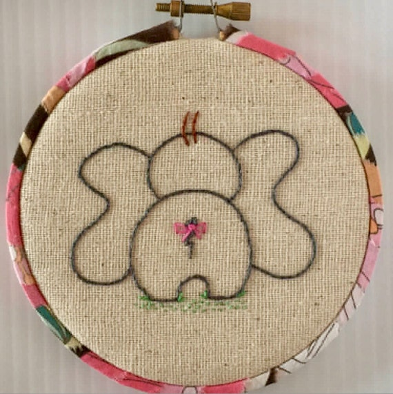 Little Elephants Hand Embroidered Hoop Set