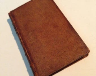 "RARE 1779 Miniature Leather-Bound Book, ""PREFACES: Biographical and Critical to the Works of the English Poets"", by Samuel Johnson"