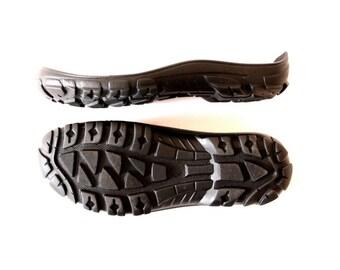 Rubber Bottom Sole Shoe Making Supplies Rugged Natural Rubber Sole LARGE Shoe Soles Black Soles Snow Boots, Men Slipper Soles UNISEX US 8-17