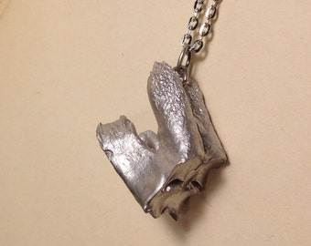 LAST ONE - The Gift Horse's Mouth: Silver Guild Tooth Pendant Necklace