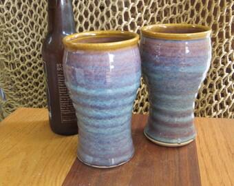 Pottery Beer Mug Tumbler in Opal Glaze