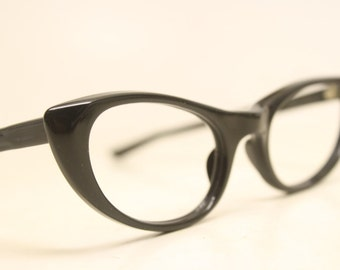 Small black cat eye eyeglasses vintage cat eye glasses frames Cateye frames