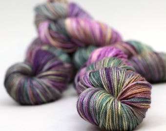 "Hand dyed yarn silk merino DK, Cameron, ""Indo"", knitting yarn, silk and wool yarn,"