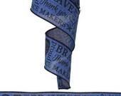 2.5 Inch Royal Blue Black Police Print Royal RG0159225, Deco Mesh Supplies