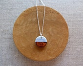Copper Dip Round Necklace...