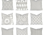 15% Off Sale Gray Pillow Cover - Gray and White  - Throw Pillow Covers - Gray Decorative Pillow Covers - Gray Bedding - Gray Cushion Cover -