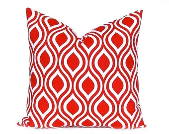 30% Off Sale Pillow, Red Pillow, Throw Pillow, Decorative Throw Pillow Cover Red Nicole Premier Prints