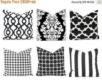 20% Off Sale Black Pillow Cover - Decorative Pillow Covers - Black and White Pillow Cover - Black Trellis - Black Berlin - Black Throw Pillo
