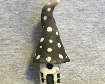 Miniature Fairy House ceramic raku  Smiles Unlimited sculpture