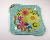 "Cloth Panty Liner 8"" Flowers"