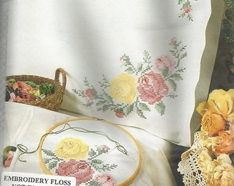 Tobin Home Fashions Stamped Pillow Cases (Floral Design)