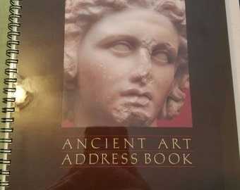 Vintage Never Used Ancient Art Address Book From The J. Paul Getty Museum 1981