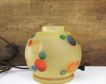 1930s Bellova Gnome Lamp / Polka dot Light base, no shade