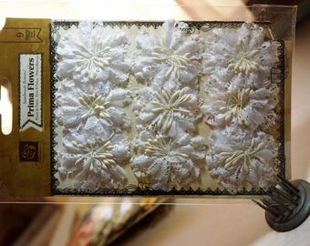 CLEARANCE* 30% off ~ Prima Flowers ~ Chantelle Collection - Medallion ~ Lace Flowers *Cards*Scrapbooking*Crafts*