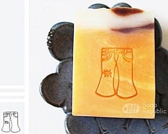 SoapRepublic Jean Acrylic Soap Stamp