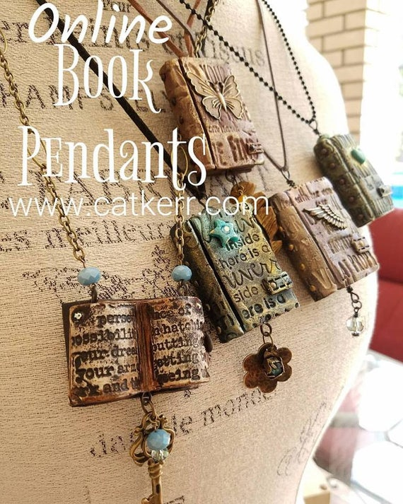 Polymer Clay Book Art Pendant Mini Video Workshop