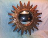 "Vintage Sunburst Bulls eye Mirror 12"""