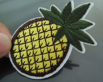 Pineapple Patch Fruit patches Tropical Fruit patch Applique embroidered patch Iron On Patch Sewing Patch
