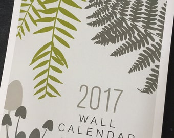 2017 Printed Nature Wall Calendar