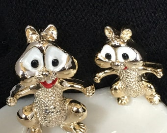 Cute little Chipmunks brooches
