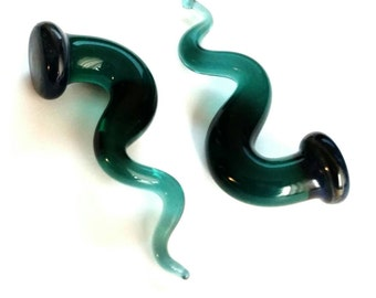 00g gauged ear plugs earrings talons for stretched piercings - Teal Me Your Fantasy