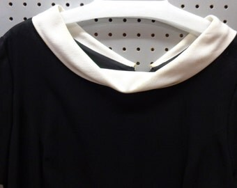 VINTAGE 1960's Black Short Sleeve Dress by Carol Carter  (available)