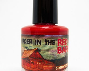 Murder In The Red Barn Custom Nail Polish SFEtsy