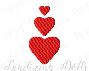 Mini Heart Solid Fill Embroidery Design Digital File 0.5x0.5 1x1 1.5x1.5 Valentine's Day love Valentine INSTANT DOWNLOAD