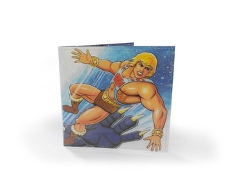 He-Man Masters of the Universe Wallet - Recycled vintage book page in vinyl