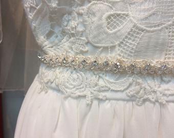BRIDAL Beaded Crystal Rhinestone Belt Sale