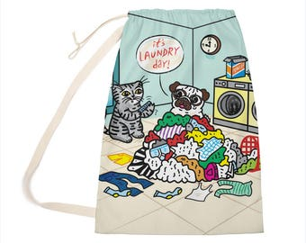 "It's Laundry Day! - Laundry Bag - Clothing Bag - 28"" x 36"""