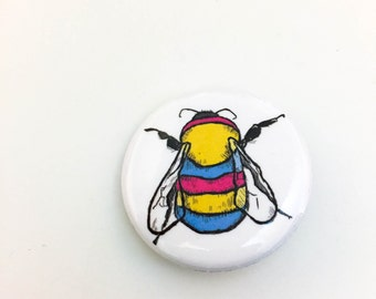 Pansexual Bee Button