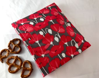 Reusable Snack Bag - Reusable Baggie - Red  Flower Snack Bag - Fabric Snack Bag - Reusable Fabric Snack Bag - Desert Bloom Petals Red