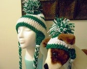 Reserved for Phillygd1 Crochet Dog Hats with matching owners hat. Hand made by Kams-store.com
