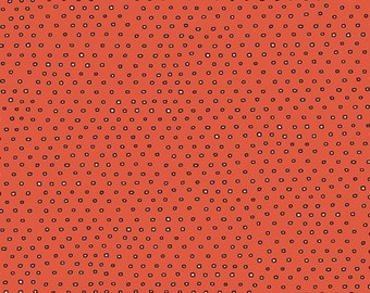 Pixie Square Dot Blender by Ink & Arrow Fabrics - Square Dot in Tomato (24299-O) - Ink and Arrow- 1 Yard