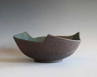 Handmade Ceramic Modern Hostess Bowl, pottery bowl, ceramic bowl, unique bowl