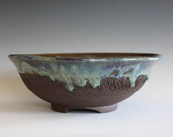 Ceramic platter, pottery plate, hand thrown stoneware, handmade ceramics, ceramic serving bowl, ceramics and pottery