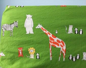 Animal Baby Bedding, Baby Crib Sheet, Changing Pad Cover, Zoo Bedding, Baby Nursery, Za za zoo fabric