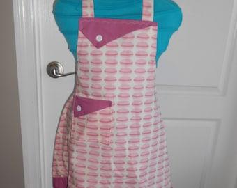 Pink Macaroons Girl's Apron