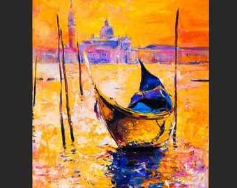 Oil Painting Original Painting Abstract Painting Abstract Art Canvas Art Large Art Wall Art Canvas Painting Large Painting Venice