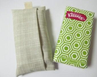 Tissue Case/White Plaid On Beige
