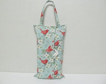 Hanging Tissue Box Cover For Skinny Kleenex/Birds