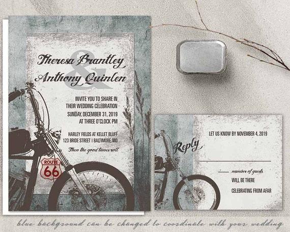 Biker Wedding Invitations