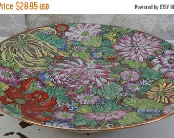 60% OFF OOAK~Cake Stand~Upcycled Music Powder Box~Vintage Decoritive Plate~Cake Stand