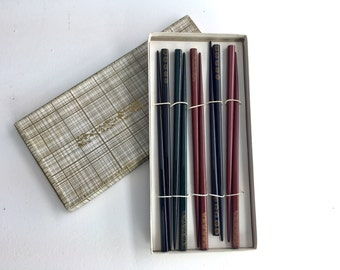 1960s Vintage Chopsticks in Original Box, NOS