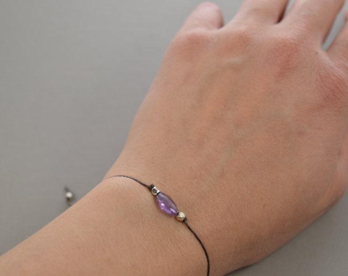Amethyst Stacking Bracelet